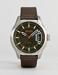 Boss Orange By Hugo Hong Kong Watch With Black Dial Brown