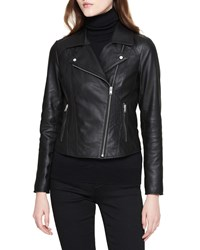 Marc New York Classic Lamb Leather Moto Jacket Black
