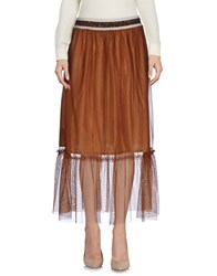 Giorgia And Johns 3 4 Length Skirts Brown