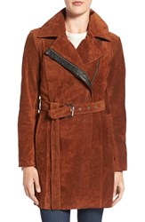 Andrew Marc New York Women's 'Sienna 33' Suede Belted Trench Coat
