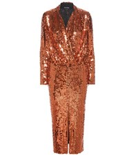 Tom Ford Sequin Embellished Dress Orange