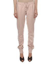 Tom Ford Mid Rise Glossy Jogger Pants Light Pink