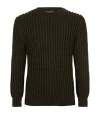 Dolce And Gabbana Ribbed Cashmere Sweater Male