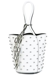 Alexander Wang Mini 'Roxy' Bucket Tote White