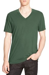 James Perse Men's Short Sleeve V Neck T Shirt Durango