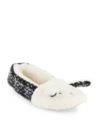 Kensie Faux Fur Bunny Slippers Black