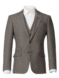 Racing Green Men's Sand Donegal Tailored Jacket Sand