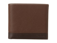 Tumi Rivington Global Center Flip Id Brown Wallet