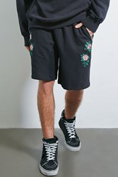 Forever 21 Private Academy Floral Shorts Black