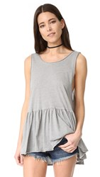 Free People Cantina Tank Grey