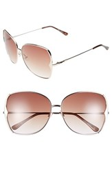 Women's Bcbgmaxazria 63Mm Butterfly Sunglasses Gold