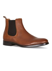 Topman Selected Homme Tan Leather Chelsea Boots Brown