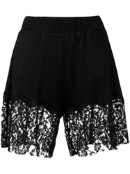 Maison Martin Margiela Mm6 Lace Trim Shorts Black
