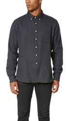 Brooklyn Tailors Hopsack Sport Shirt Steel Grey