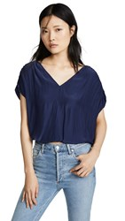 Ramy Brook Adella Blouse Spring Navy