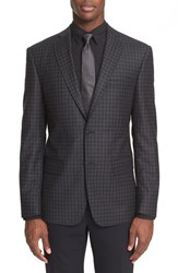 John Varvatos Men's Star Usa Trim Fit Check Wool Sport Coat