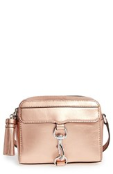 Rebecca Minkoff Mab Camera Bag Metallic Rose Gold Silver Hrdwr