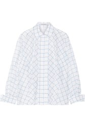 Vika Gazinskaya Printed Cotton Voile Shirt White