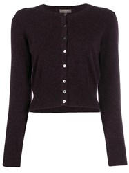 N.Peal Cropped Cardigan Purple