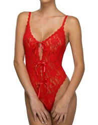 Hanky Panky After Midnight Open Panel Teddy Red