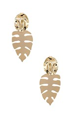 Joolz By Martha Calvo Palm Springs Earring In Metallic Gold.