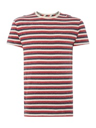 Linea Garrard Three Stripe Marl T Shirt Multi Coloured