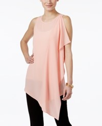 Cable And Gauge Ruffled Asymmetrical Tunic Blossom