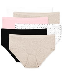 Fruit Of The Loom Premium 6 Pk. Ultra Soft Hipster 6Dpusp1 White Cashmere Kitty Pink Small Dots Black Cash