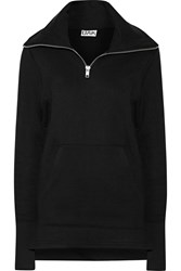 Oak Cotton Blend Terry Sweater Black