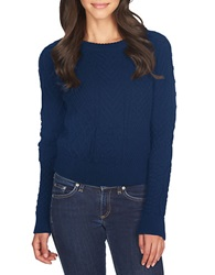 1 State Patterned Crew Sweater Nightshade