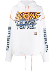 Mcq By Alexander Mcqueen Blazing Force Hoodie White