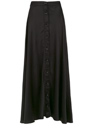 Amir Slama Silk Long Skirt Black