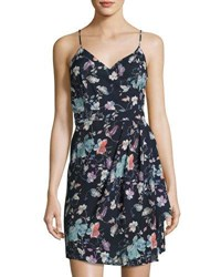 Dex Faux Wrap Floral Print Dress Green Pattern