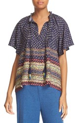 Sea Women's Pintuck Print Silk Top