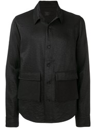 Rta Creased Shirt Jacket Black