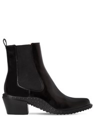 Tod's 50Mm Brushed Leather Cowboy Boots Black