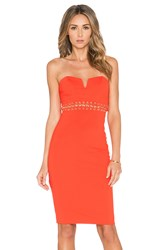 Bless'ed Are The Meek Eternal Strapless Dress Orange