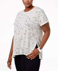 Styleandco. Style Co. Plus Size Printed Swing Top Only At Macy's Galaxy White