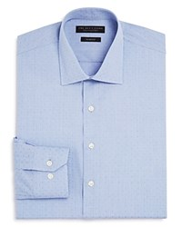 Bloomingdale's The Men's Store At Dobby Slim Fit Dress Shirt 100 Exclusive Blue White