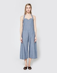 Toit Volant Edith Jumpsuit In Chambray