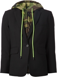 Veronica Beard 'Scuba Dickey' Camouflage Hooded Blazer