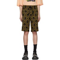 Maison Martin Margiela Tan And Black Vintage Jacquard Shorts