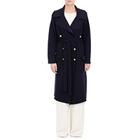 Maiyet Double Breasted Knit Trench Coat Navy