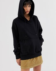 Weekday Oversized Hoodie In Black