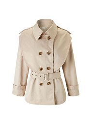 Lavand Cropped Trench Jacket Beige