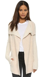 La Fee Verte Drape Collar Cardigan Cream