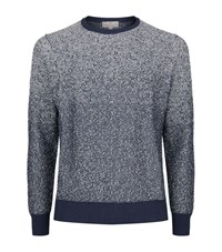 Canali Melange Knit Jumper Male Blue