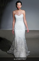 Women's Anna Maier Couture 'Mirielle' Strapless Corded Lace Trumpet Gown In Stores Only