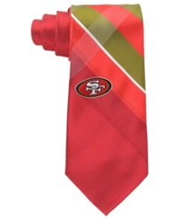Eagles Wings San Francisco 49Ers Woven Grid Tie Gray Red