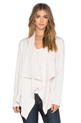 Heather Fleece Vent Back Cardigan Ivory